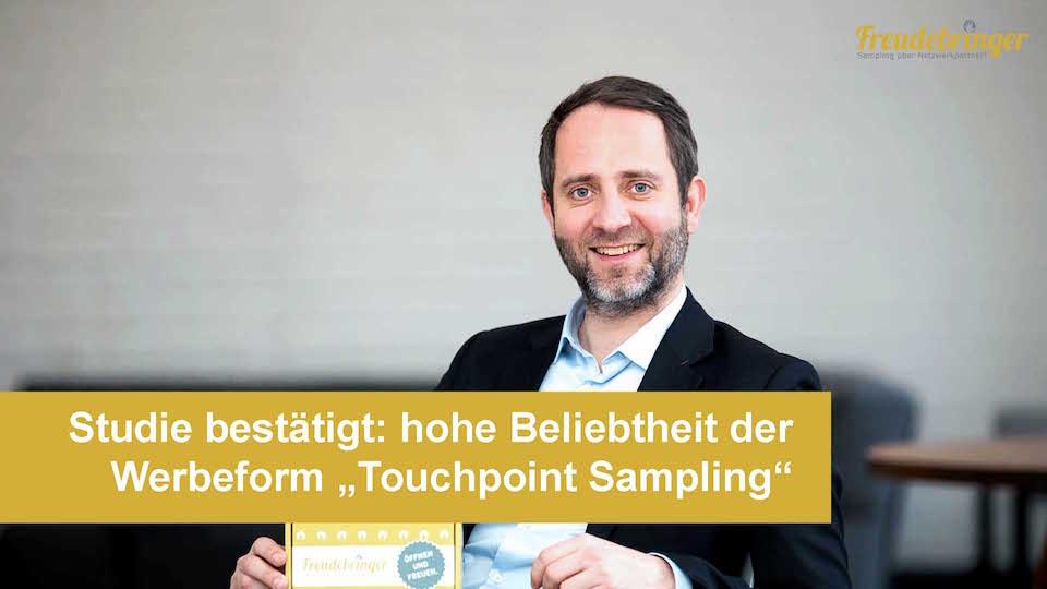 Freudebringer Studie Touchpoint Sampling Geschäftsführer Niko Pabst