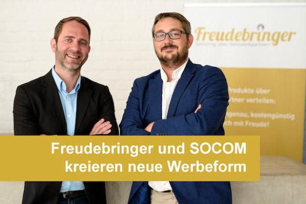 Promotionagentur Freudebringer und SOCOM kreieren neue Werbeform