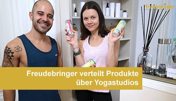 Die Sampling-Agentur Freudebringer verteilt Produkte über Yogastudios