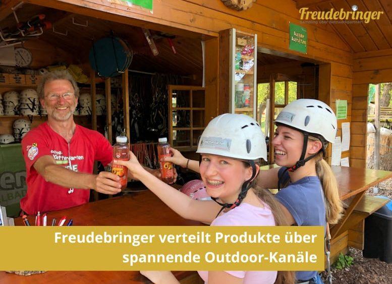 Promotion-Agentur Freudebringer verteilt Produkte spannende Outdoor Kanäle Österreich